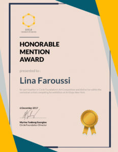 CircleFoundation-Honorable Mention Award-Lina Faroussi