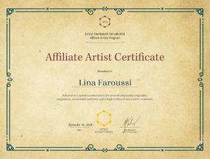 Lina-Faroussi-Circle_Affiliate_Artist_Certificate